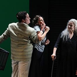 Philipp Werner (Oskar), Jeannette Wernecke (Marianne), Marilyn Bennett (Großmutter)
